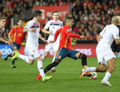 Spain edges Norway 2-1 in first Euro 2020 qualifier