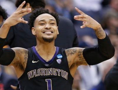 Washington smothers Utah State star to advance in NCAA