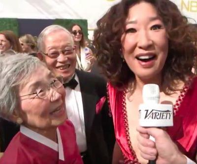 Sandra Oh Brought Her Parents to the Emmys and it was the Cutest Thing