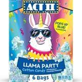 This Llama-Themed Popcorn Tastes Like Cotton Candy and Turns Baby Blue When It Pops!
