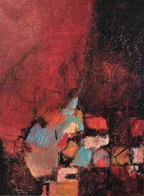 "Contemporary Art, Abstract Painting, Expressionism, Mixed Media, ""DESTINED TO ROAM"" by Contemporary Artist Liz Thoresen"