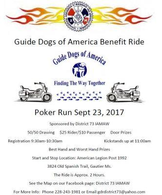 District 73 IAMAW Guide Dogs of America Benefit Ride