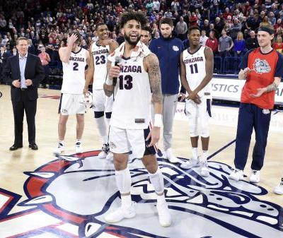 Gonzaga holds down No. 1 spot in USA TODAY Sports men's basketball poll