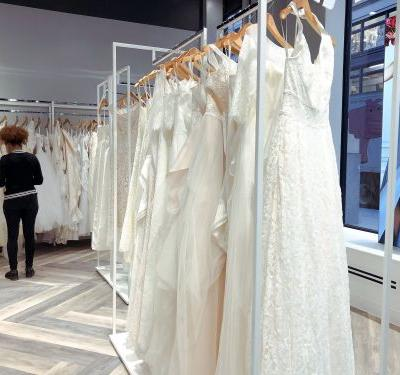 We visited a David's Bridal store just before the company filed for bankruptcy. Here's what it was like