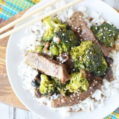 Slow Cooker Beef with Broccoli