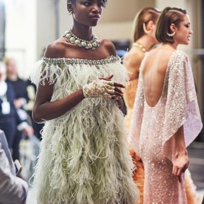 The stunning Officialmariaborges at the backstage of Georges