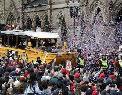 Six young adults arrested during Red Sox championship parade