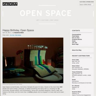The opinions of this writer do not necessarily reflect. On Open Space's Tenth Anniversary