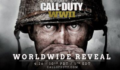Call of Duty: WWII Officially Confirmed, Reveal Happening on April 26