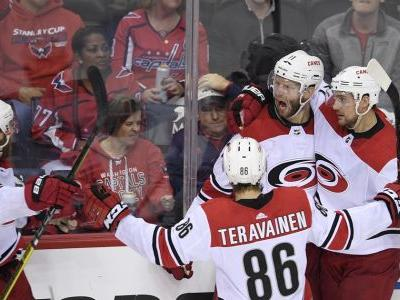 Hurricanes stun defending champion Capitals in 2OT in Game 7