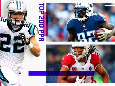 Fantasy Football PPR Rankings: Top 200 cheat sheet