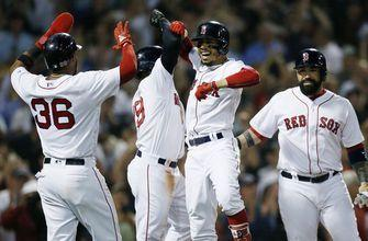 Betts' slam leads Red Sox past Blue Jays 6-4 for 10th in row
