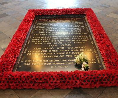 Meghan Markle's wedding bouquet placed on grave of Unknown Warrior