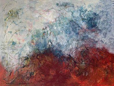 """Expressionism Painting,Textured Art, Abstract Art, Contemporary Art For Sale """"Cloud Parade"""" by Contemporary Artist Liz Thoresen"""