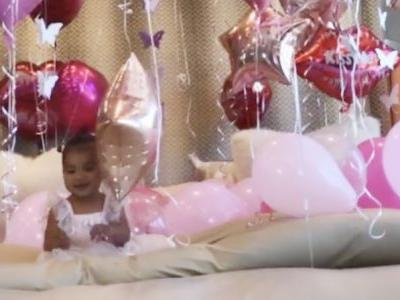 True Thompson's First Birthday Was a Rosy Pink Wonderland, Thanks to Mama Khloé Kardashian