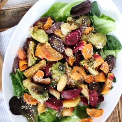 Vegan Roasted Root Salad