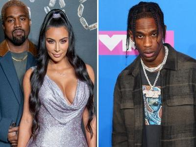 Kanye West Proves There's No Drama With Travis Scott, Attends His Concert With Kim Kardashian