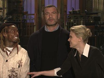 Watch Lil Wayne Joke About Mamma Mia! And Impersonate Liev Schreiber In Their SNL Promos