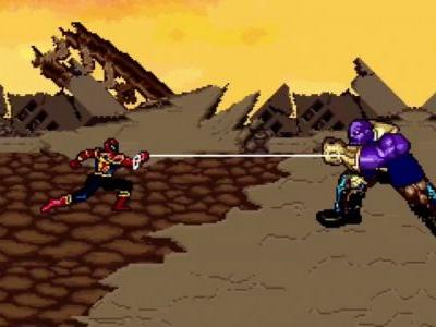 Animator Reimagines The Avengers' Climactic Battle Against Thanos With 16-Bit Graphics