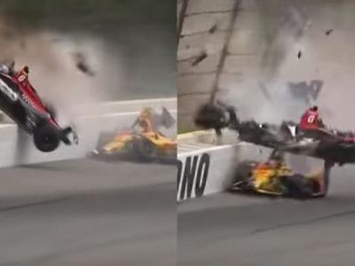 IndyCar Driver Suffers Multiple Broken Bones In Sickening Crash