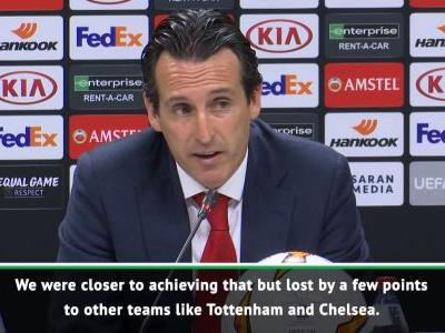 Arsenal have not achieved targets - Emery