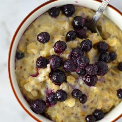 Blueberry Apple Holy Crap Oatmeal