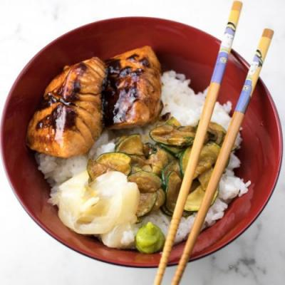Japanese Salmon Rice Bowls