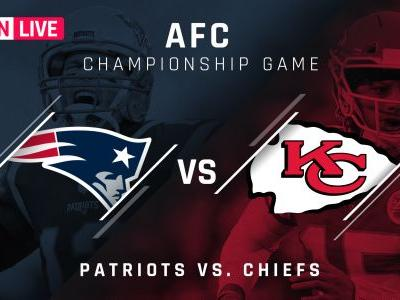 Patriots vs. Chiefs: Score, live updates, highlights from AFC championship game