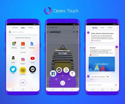Opera Touch is a new Android browser tailored for one-handed use