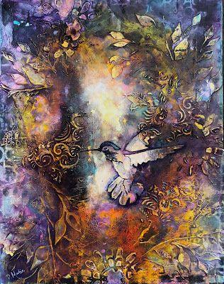 """""""Surrender"""", Original Mixed Media Abstract Painting by Colorado Artist, Donna L. Martin"""