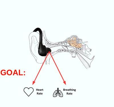 In-Ear Audio Wearable: Measurement of Heart and Breathing Rates for Health and Safety Monitoring