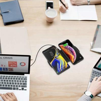 Charge two phones at once with $16 off Choetech's dual wireless charger