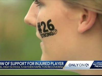 Injured high school football player gets encouragement from community and NFL player