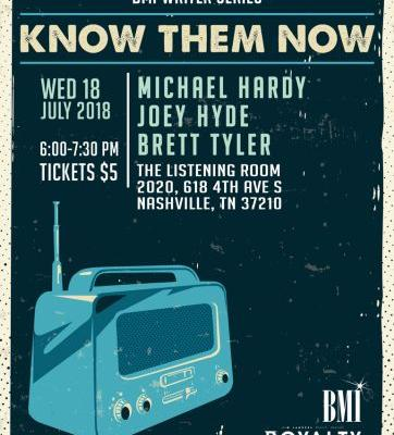 Events: BMI Writer Series: Know Them Now: Nashville
