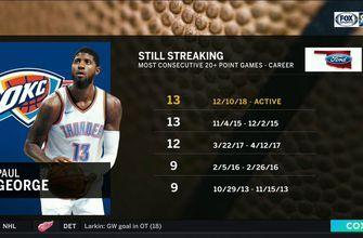 Paul George Still Streaking after OKC win over Portland | Thunder Live