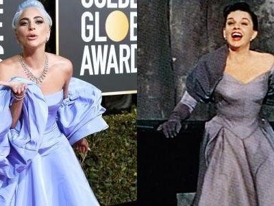 Lady Gaga's Golden Globes gown pays tribute to Judy Garland in 'A Star Is Born'