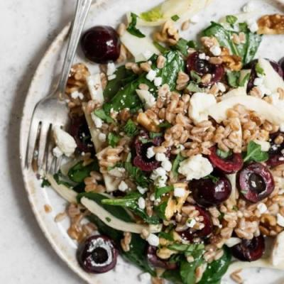 Farro, Cherry, & Fennel Salad