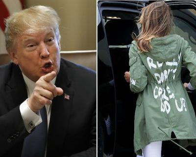 """Donald Trump Says Melania Trump's """"I Really Don't Care"""" Jacket Was Actually Intentional"""