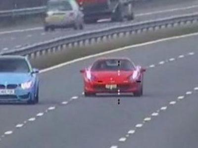 Ferrari 458 And BMW M3 Caught 'Racing' On A Motorway At Nearly 150mph