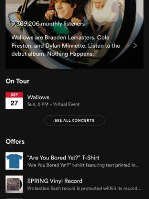 Spotify adds virtual event listings to its app