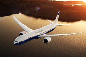 Final call for boarding Boeing BBJ 777X that provides world's longest flight