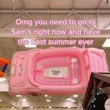 C'mon Barbie, Let's Go Party! This Pink Convertible Pool Float Is Pure Summertime Bliss