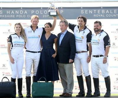 The Photos Of Meghan Markle & Prince Harry Kissing At His Charity Polo Match Are Romantic AF