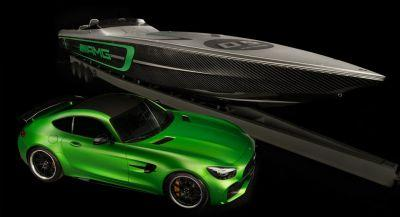 Cigarette Racing Boat Gets Mercedes-AMG GT R Inspired Design
