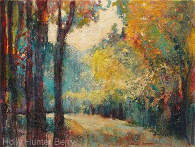 """Impressionist Landscape Tree Art Painting """"Almost There"""" by Passionate Purposeful Painter Holly Hunter Berry"""