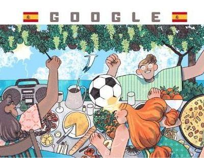 Google honors Spain in new Women's World Cup Doodle