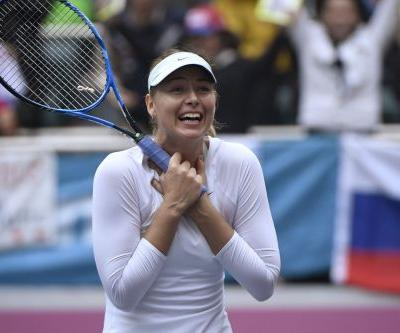 Maria Sharapova collects first title since drug ban