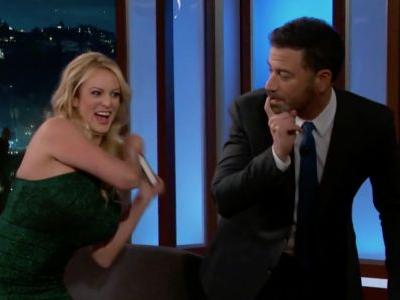 Stormy Daniels Demonstrates on Jimmy Kimmel How She Spanked Donald Trump