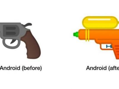 Google swaps revolver for water gun in its emoji armory