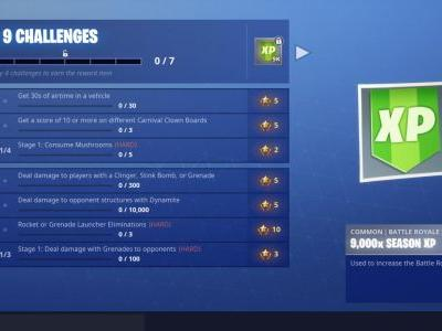 Fortnite Week 9: Carnival Clown Boards, Dynamite Damage, Airtime Challenges